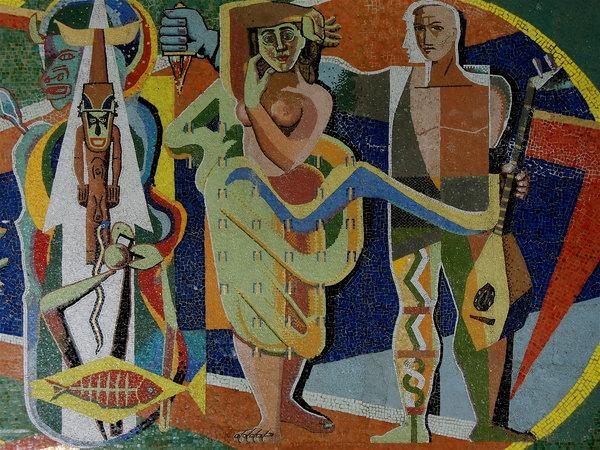 Enrique Caravia, mosaïque murale, hall du Museo Nacional de Bellas Artes, edificio de Arte Cubano