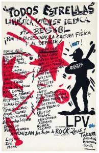 """Pedro Vizcaíno, affiche """"Todos Estrellas"""", 1989,imprimé dans le Taller de Serigrafía René Portocarrero, La Havane © Pedro Vizcaíno"""