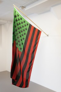 David Hammons, African American Flag 1990 photo The Bronx Museum of the Arts.