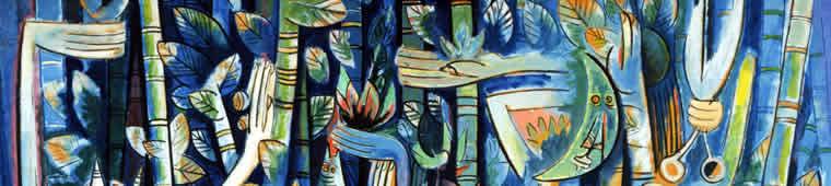 Wifredo Lam, La Jungla (détail), 1943. Droits réservés.