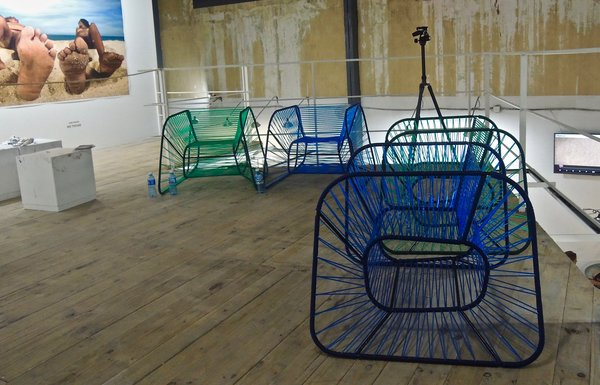 Prototypes sièges Vibra, Raiko Valladares & Jose A. Villa à la Fabrica, octobre 2015