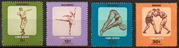 Timbres Actividades juveniles, Cuba 1957