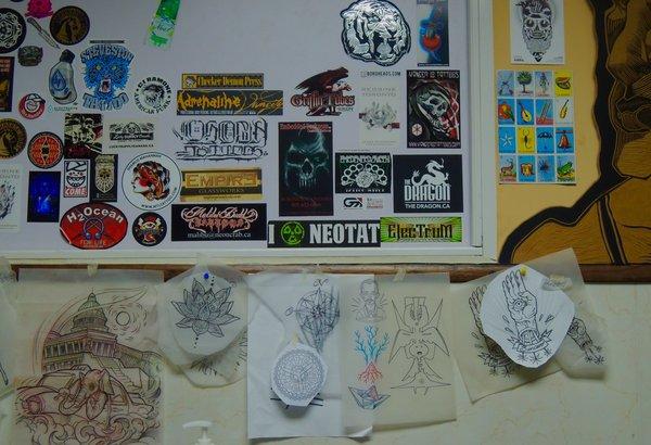La Marca, galerie et salon de tatouage, moodboard 2015