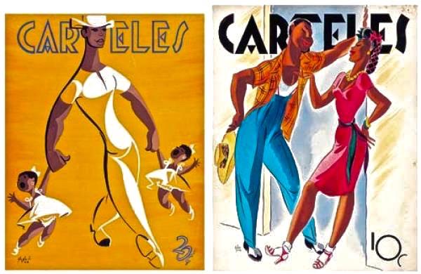 Andres Garcia Benitez, deux couvertures pour la revue Carteles.