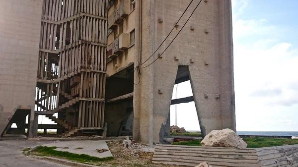 Edificio Girón 1967 - 2016, dégradations sur la structure.