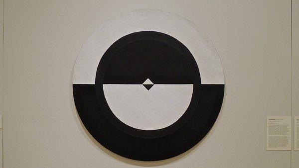 Carmen Herrera, Tondo Black&White II, 1959. Photographié au Museo del Barrio, NY, 2016.