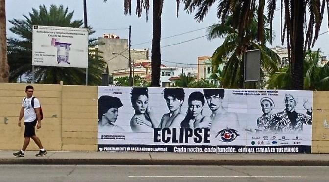 Eclipse, affiche de la pièce de théâtre de Jazz Vila à La Havane, mars 2016.