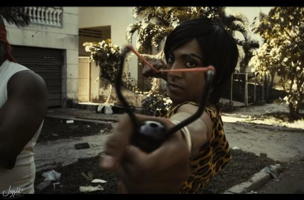 Jazz Vila dans son personnage de La China, du film Juan de los Muertos. Photo droits réservés.