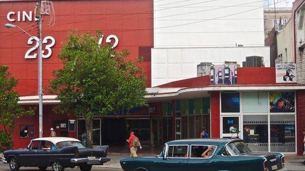 La Havane, cinémathèque au ciné 23 y 12, 2015