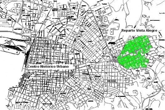 Santiago de Cuba, quartier Vista Alegre, croquis Arquitexto droits réservés.