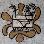 La Habana, mosaïque d'Amelia Peláez sur les trottoirs de la Rampa