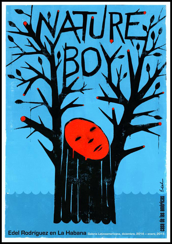 Edel Rodriguez, affiche de l'exposition Nature Boy 2014- droits réservés