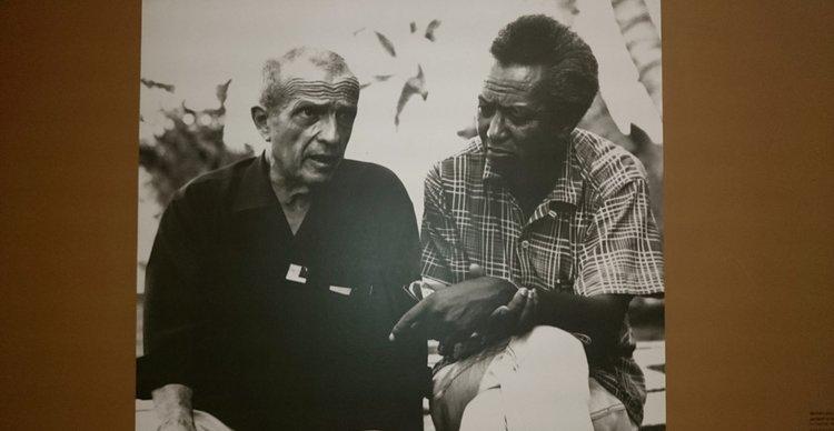 Michel Leiris et Wilfredo Lam à La Havane, 1967. Droits réservés.