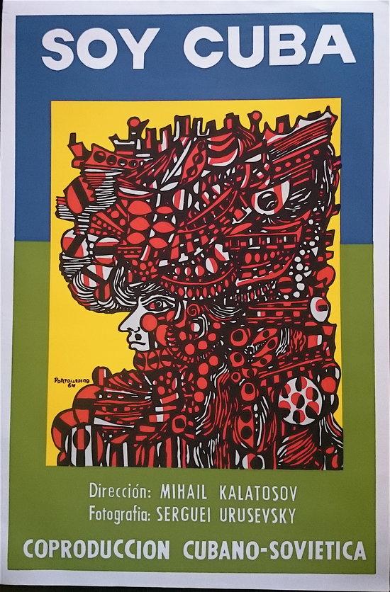 Soy Cuba, film de film de Mikhail Kalatozov, 1964, affiche de René Portocarrero - droits réservés
