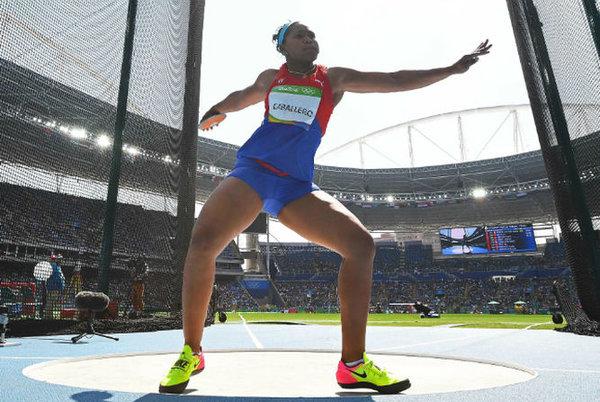 La cubana Denia Caballero en acción JO Rio 2016. AFP/Franck Fife / Droits réservés.