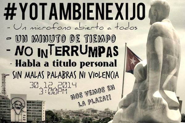 tract invitant à la performance de Tania Bruguera, décembre 2014